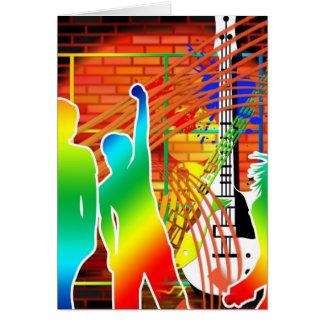 Funky Cool Music Dance Pop Art Design Card