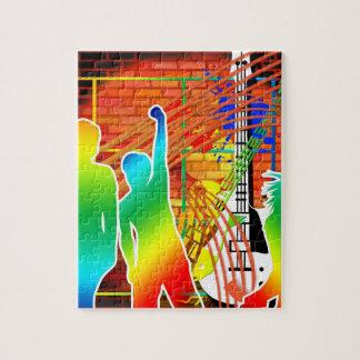 Funky Cool Music Dance Pop Art Design Jigsaw Puzzles