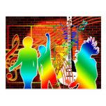 Funky Cool Music Dance Pop Art Design Postcard