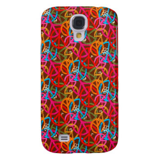 Funky Cool Neon Peace 3G/3GS Samsung Galaxy S4 Cases