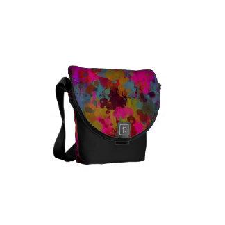 Funky Cool Paint Splatter Messenger Bag