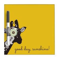 Funky Cool Paisley Giraffe Yellow Dry Erase Board at Zazzle
