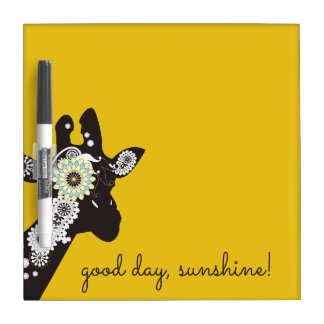 Funky Cool Paisley Giraffe Yellow Dry Erase Board