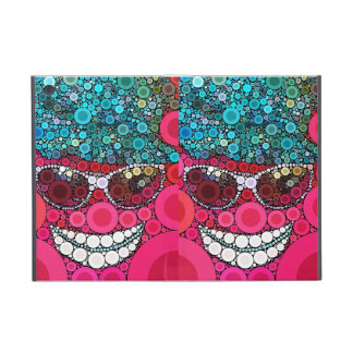 Funky Cool Smiling Face Sunglasses Hat Pink Blue Cases For iPad Mini