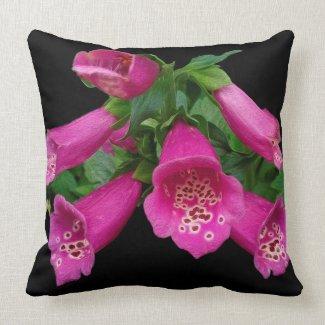 Funky Cool Vivid Foxglove Pillow