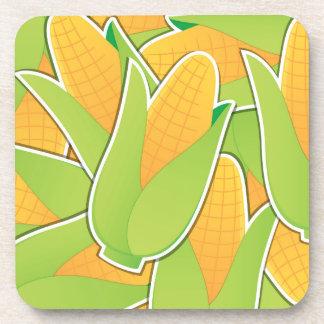 Funky corn beverage coaster