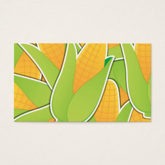 Funky corn business card