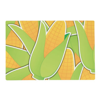 Funky corn placemat