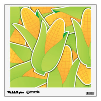 Funky corn wall sticker