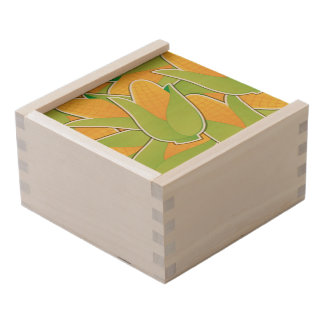 Funky corn wooden keepsake box