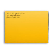 Funky Cow Print Yellow Envelope