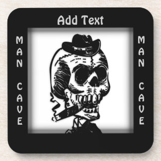 Funky Cowboy Skull Man Cave Personal Coasters