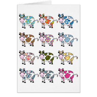 Funky Cows Card