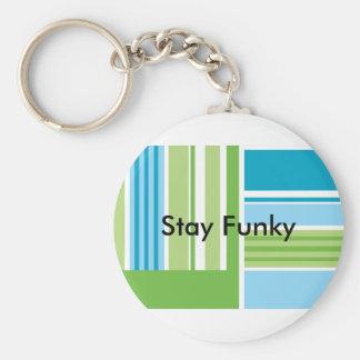 Funky Crafty Stripes Custom Keychain