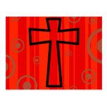 Funky Cross Postcard
