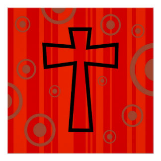 Funky Cross Poster