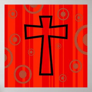 Funky Cross Poster