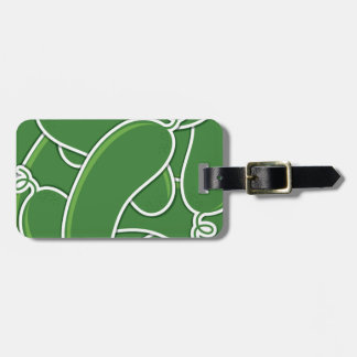 Funky cucumber bag tag