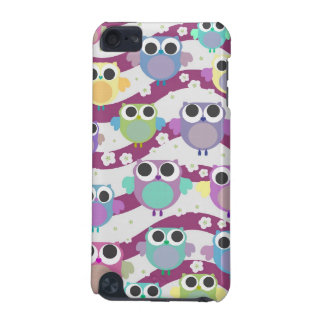 Funky cute colorful owls & blossoms iphone case iPod touch 5G case