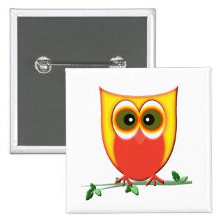 Funky Cute Owl Button