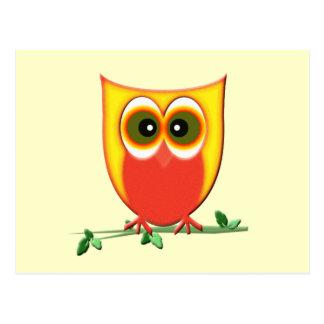 Funky Cute Owl Postcard