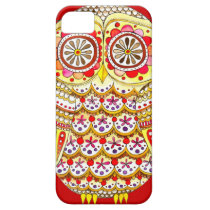 Funky Cute Retro Owl iPhone 5 Case by Case-Mate