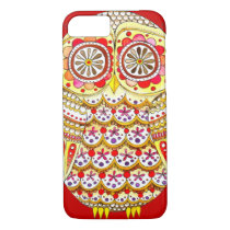 Funky Cute Retro Owl iPhone 7 case by