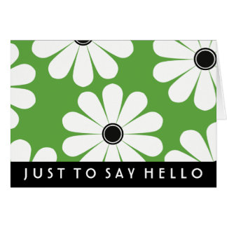 Funky Daisies (Green) Note Card