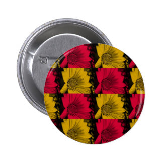Funky Daisies Pinback Button