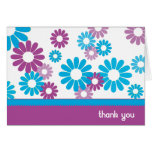Funky Daisies Thank You Card