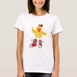 Funky Dancing Yellow Chicken T-Shirt