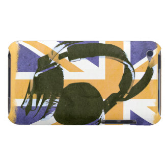 funky deejay earphones on retro british Union Jack Case-Mate iPod Touch Case