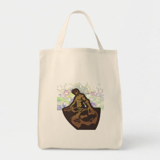 funky deejay vector design grocery tote bag