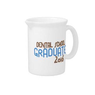 Funky Dental School Graduate 2016 (Blue) Drink Pitcher