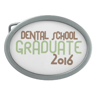 Funky Dental School Graduate 2016 (Green) Oval Belt Buckle