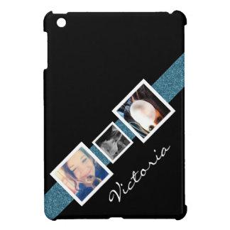 Funky Diagonal 3 Photo Personalized Case For The iPad Mini
