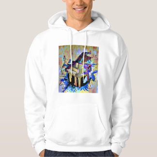Funky Digitally Colored Piano Hoodie
