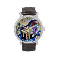 Funky Digitally Colored Piano Watch