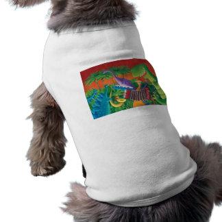 Funky Dinosaur Band Doggie Tee Shirt