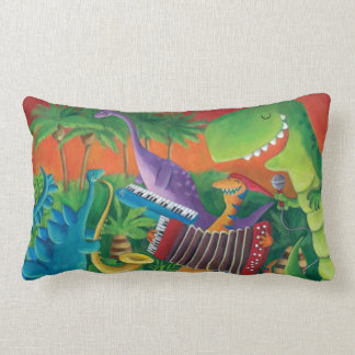 Funky Dinosaur Band Throw Pillows