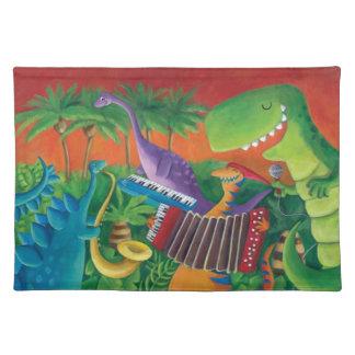Funky Dinosaur Band Place Mat