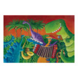Funky Dinosaur Band Poster
