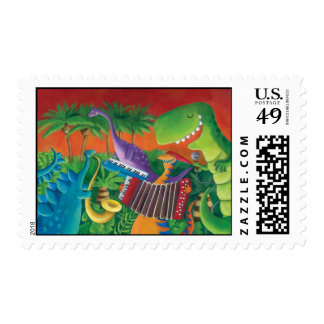 Funky Dinosaur Band Stamps