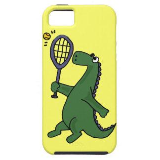 Funky Dinosaur Playing Tennis Cartoon iPhone 5 Cover
