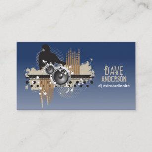 Funky business cards templates zazzle funky disc jockey dj grunge business card colourmoves