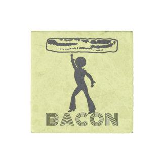 Funky Disco Bacon Stone Magnet