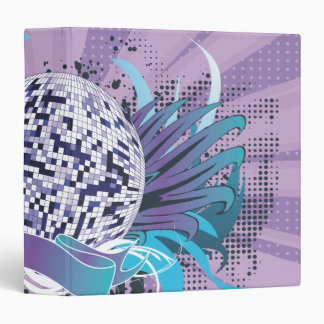 funky disco ball vector art binder