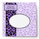 Funky Diva Xtra Leopard Print Purple Envelope envelope