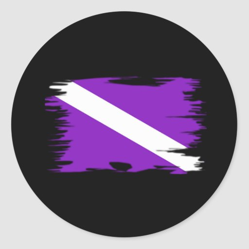 Funky Dive Flag Stickers