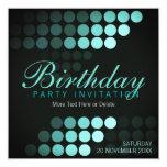 Funky Dots Blues Birthday Party Invitation